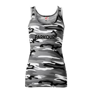 Parkour - salto - Maskáčové tielko