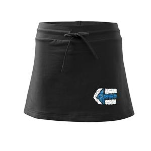 Párová značka modrá - Športová sukne - two in one