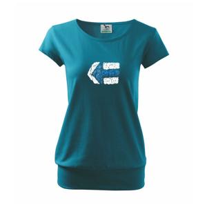 Párová značka modrá - Voľné tričko city