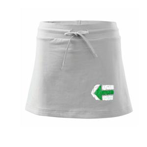 Párová značka zelená - Športová sukne - two in one
