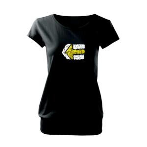 Párová značka žlutá - Voľné tričko city