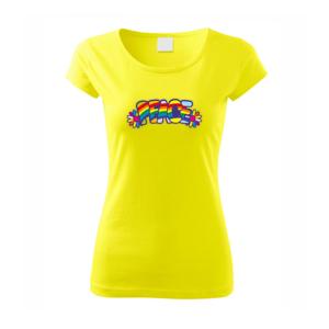 Peace nápis dúhový - Pure dámske tričko