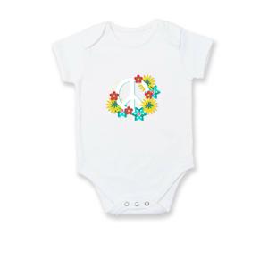 Peace symbol abstraktný - Dojčenské body