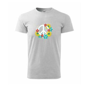 Peace symbol abstraktný - Heavy new - tričko pánske