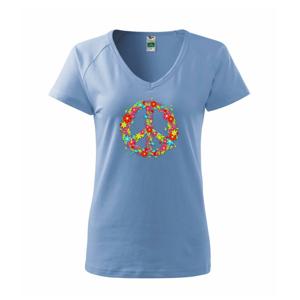 Peace symbol červené kvety - Tričko dámske Dream