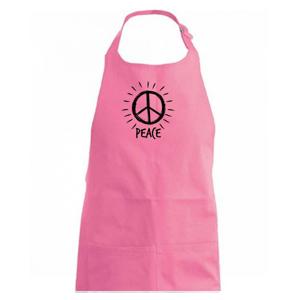 Peace symbol čiernobiely - Zástěra na vaření