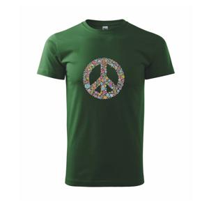 Peace symbol lístočky - Tričko Basic Extra veľké