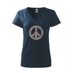 Peace symbol lístočky - Tričko dámske Dream