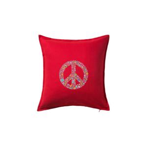Peace symbol lístočky - Vankúš 50x50