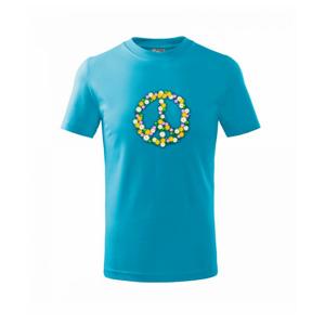 Peace symbol margaréty - Tričko detské basic