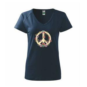 Peace symbol pieskový - Tričko dámske Dream