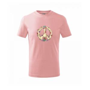 Peace symbol pieskový - Tričko detské basic