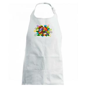 Peace symbol prerastený kvetinami - Detská zástera na varenie