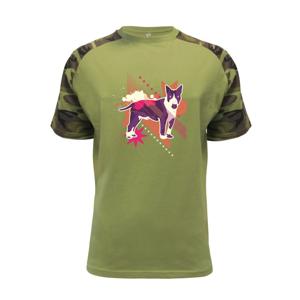 Pes abstraktný fialový  - Raglan Military