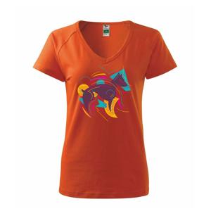 Pes abstraktný  - Tričko dámske Dream