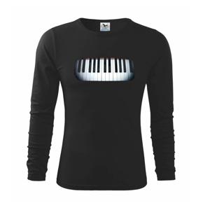 Piano v tme - Tričko detské Long Sleeve