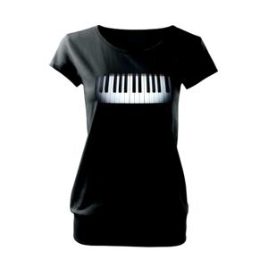 Piano v tme - Voľné tričko city