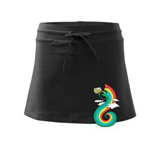 Pijem ako dúha (Pecka design) - Športová sukne - two in one
