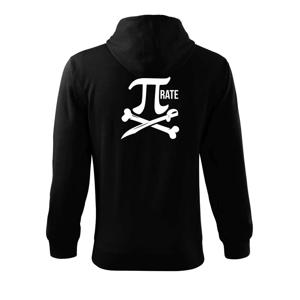 Pirate PÍ - Mikina s kapucňou na zips trendy zipper