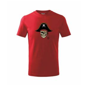 Pirátska lebka s klobúkom - Tričko detské basic