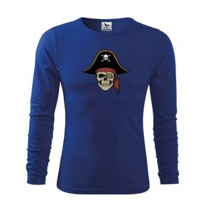Pirátska lebka s klobúkom - Tričko detské Long Sleeve