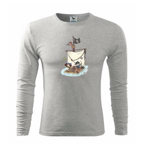 Pirátska posádka - Tričko s dlhým rukávom FIT-T long sleeve