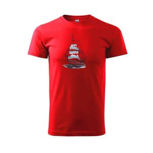 Plachetnica farebná - Tričko Basic Extra veľké