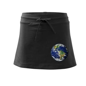 Planéta Zem - Športová sukne - two in one