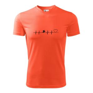 Plávanie EKG - Detské tričko fantasy športové tričko