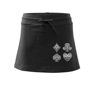 Poker symboly abstraktné - Športová sukne - two in one