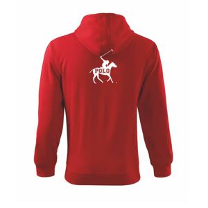 Polo kôň nápis - Mikina s kapucňou na zips trendy zipper