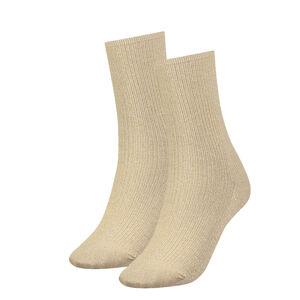 TOMMY HILFIGER - gold glitter ponožky-35-38