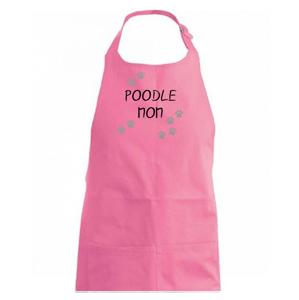 Poodle mom (Pudl) (Reflexné labky) - Zástěra na vaření