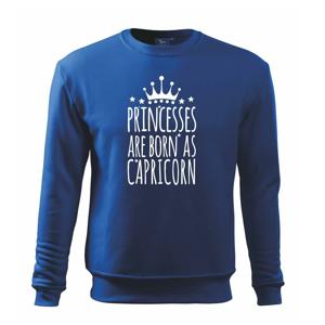 Princesses are born as Capricorn - Kozorožec - Mikina Essential detská