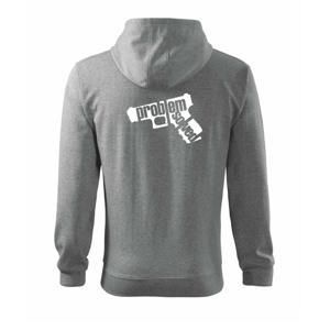 Problém - zbraň - Mikina s kapucňou na zips trendy zipper