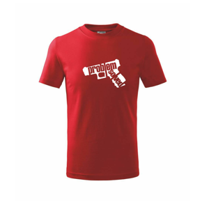 Problém - zbraň - Tričko detské basic