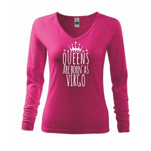 Queens are born as Virgo - Panna - Tričko dámske Elegance