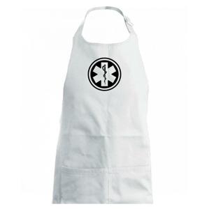 Rescue logo samostatné guľaté - Detská zástera na varenie