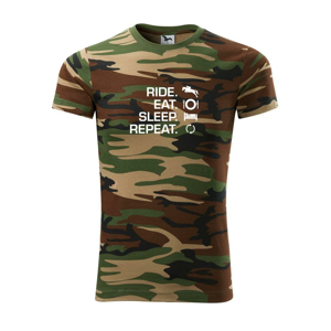 Ride Eat Sleep Repea Kôň - Army CAMOUFLAGE