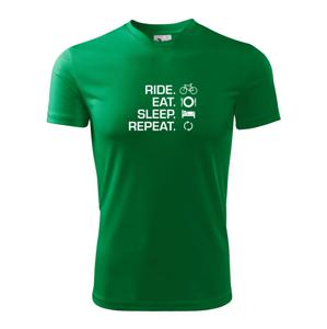 Ride Eat Sleep Repeat bicykel - Detské tričko fantasy športové tričko