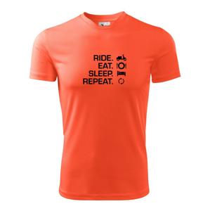 Ride Eat Sleep Repeat moto skúter - Detské tričko fantasy športové tričko