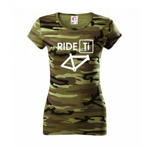 Ride Ti - Dámske maskáčové tričko