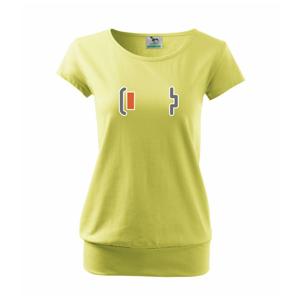 Rodinné tričká - batéria - Voľné tričko city