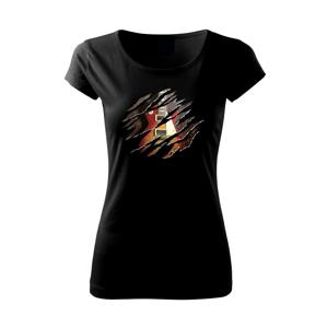 Roztrhnuté triko - gitara elektrická drevená - Pure dámske tričko