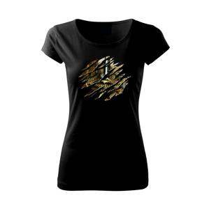 Roztrhnuté triko - hodinový strojček - Pure dámske tričko