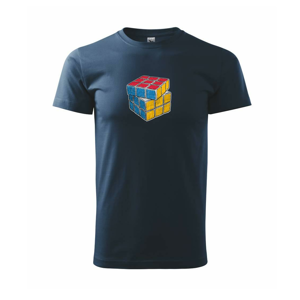 Rubikova kocka kreslená - Tričko Basic Extra veľké
