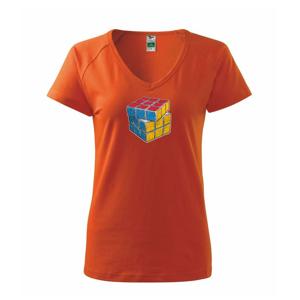 Rubikova kocka kreslená - Tričko dámske Dream