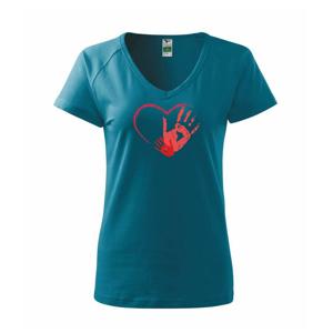 Ručičky v srdci - Tričko dámske Dream