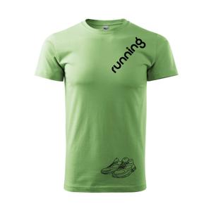 Running nápis šikmo - Heavy new - tričko pánske
