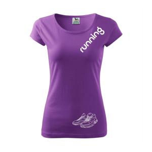 Running nápis šikmo - Pure dámske tričko